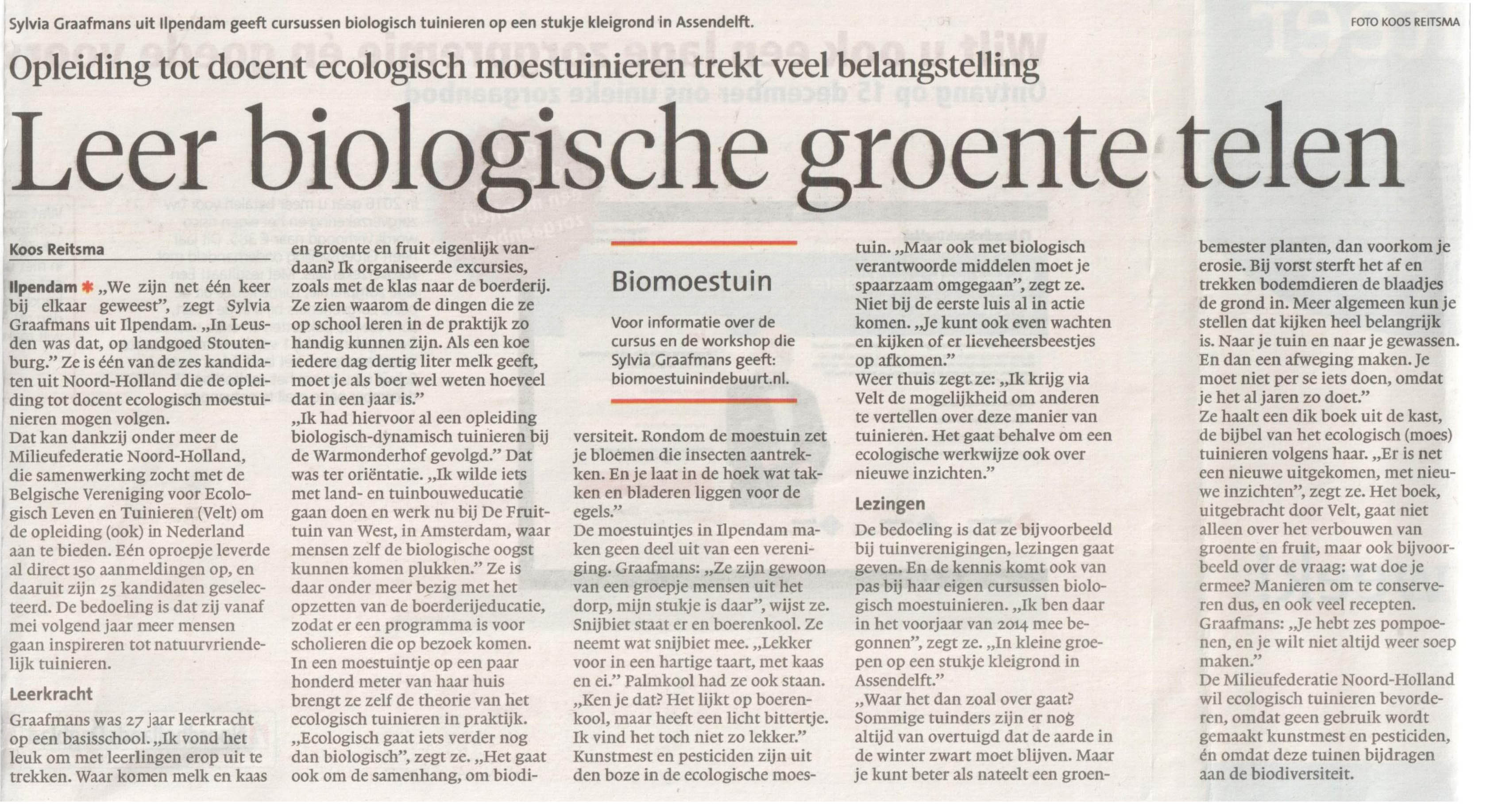 interview Sylvia Graafmans Noord Hollands Dagblad 2 december 2015-2